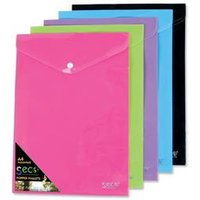 Image of SSeco Oxo-biodegradable Polypropylene Wallet A4 [Pack 5] - PPTA4-AST