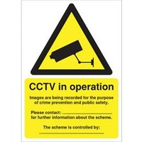 'Warning Sign Data Protection Act-compliant Cctv A5 - Dpacctvs