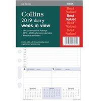 Collins 2019 Desk Diary Refill Week to View - DK1700-19