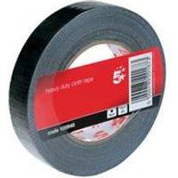 5 Star Office Cloth Tape Roll 25mmx50m Black