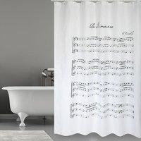 MSV douchegordijn Vivaldi grijs 180cm