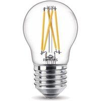 Deze lichtbron van philips is geschikt voor lampen met een e27 fitting en heeft een diameter van 4,5cm. de ...
