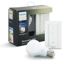 Philips Hue LED lichtbron E27 9,5W warm wit met draadloze dimmer