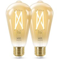 WiZ Edison E27 50W Wi-Fi Lichtbron Wit 2 st.
