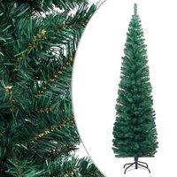 vidaXL Kunstkerstboom met standaard smal 180 cm PVC groen