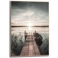 artprint Slim Frame Wood 50x70 Scandic Jetty
