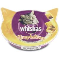 Whiskas Temptations kip-kaas Kattensnoep 60 gram