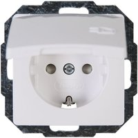 Kopp Randgeaard stopcontact met klapdeksel PARIS wit 920802069