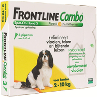 Frontline small hond combo spot on 3 pack