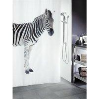 Spirella Zebra Douchegordijn 180x200 Zwart