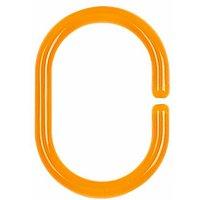 Allibert Minor Douchegordijn-Ophangringen Oranje