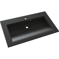 Allibert wastafel Slide polybeton 80cm zwart