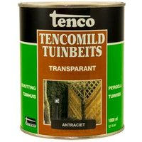 Tencomild tuinbeits transparant antraciet 1L