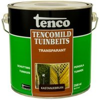 Tencomild tuinbeits transparant kastanjebruin 2,5L