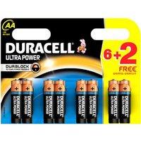 Duracell MN1500P6+2UBATT LR6 AA 6+2P DU