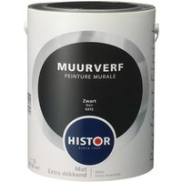 Histor perfect finish muurverf mat zwart 6372 5 l