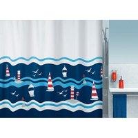Spirella Clipperi Douchegordijn 180x200 Rood-Blauw