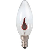Calex Kaarslamp 240V 3W E14 flickervlam 35x100