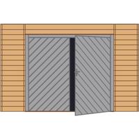 Solid carport voorwand S7742 dubbele garagedeur 390x245cm