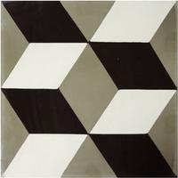 Vloertegel Kashba 3 Dimensionaal Decor Grijs 20x20x1.5 (per m2)