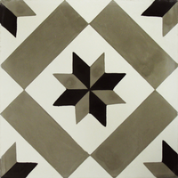 Vloertegel Kashba Sterdecor Grijs-Zwart 20x20x1.5 (per m2)