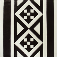 Vloertegel Kashba Randdecor Zwart 20x20x1.5 (per m2)