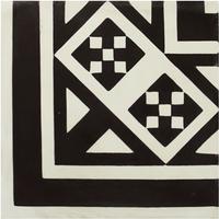 Vloertegel Kashba Hoekdecor Zwart 20x20x1.5 (per m2)