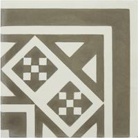Vloertegel Kashba Hoekdecor Grijs 20x20x1.5 (per m2)