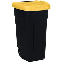 Allibert mobiele vuilnisbak geel 110L