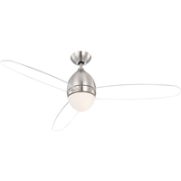 Plafondventilator Premier, nikkel mat, transparant