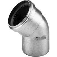 Burgerhout Alu-fix dikwandige aluminium afvoerbocht 45° 80mm