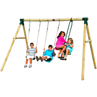 Plum Colobus Wooden garden swing set SET