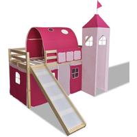 Hoogslaper Princes met ladder & glijbaan (naturel)