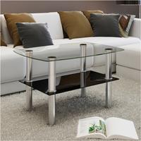 Glazen salontafel rechthoek