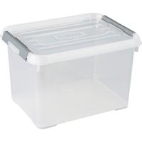Opbergbox Handy+ 20l Clipsluiting Transparant Deksel Transparant Allibert