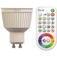 JEDI Lighting RGB LED-lamp GU10 Reflector 7 W = 35 W RGBW 230 V Dimbaar, Colorchanging Inhoud 2 stuk