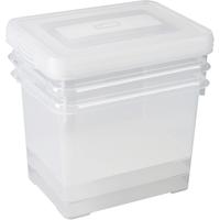 Opbergbox Handy Set Van 3 20l Deksel Transparant Allibert