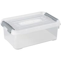 Opbergbox Handy+ 4l Clipsluiting Transparant Deksel Transparant Allibert