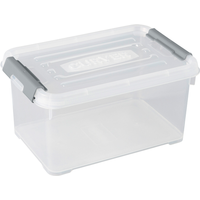 Opbergbox Handy+ 6l Clipsluiting Transparant Deksel Transparant Allibert
