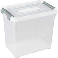 Opbergbox Handy+ 9l Clipsluiting Transparant Deksel Transparant Allibert
