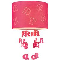 Home Sweet Home lampenkap Letters 30 cm fuchsia
