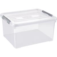 Opbergbox Handy+ 35l Clipsluiting Transparant Deksel Transparant Allibert
