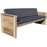 Wood4You tuinbank Vlieland bouwpakket steigerhout met kussens 188cm