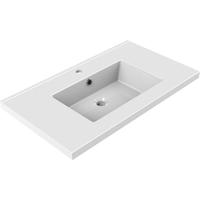 Wastafel Inbouw Allibert Tobi 80,5x46,2x3,5 cm met Kraangat en Overloop Porselein Glanzend Wit
