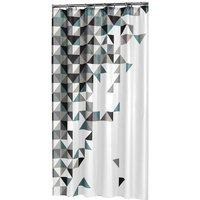 Sealskin douchegordijn Tangram polyester zwart 180x200 cm