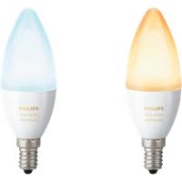 Philips Hue 2-Pack Bulb E14 White Ambience