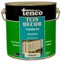 Tenco tuindecor tuinbeits dekkend parelwit 2,5L