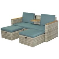 Tuinset relax twin wicker