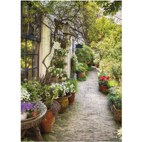 PB-Collection tuinschilderij Flower Alley 40x30cm