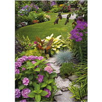PB-Collection tuinschilderij English Garden View 40x30cm